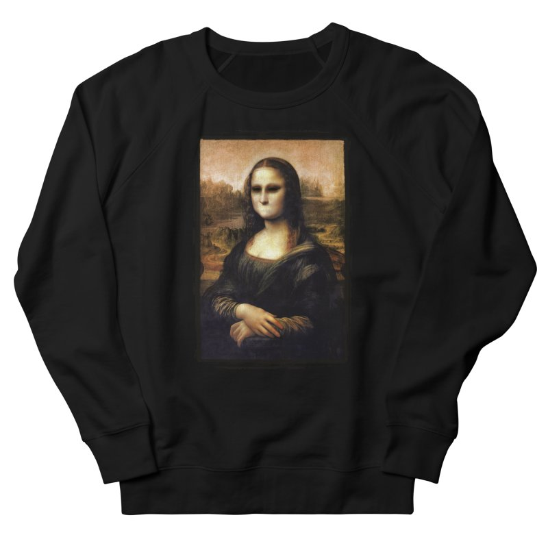 Silent Mona Lisa Men's French Terry Sweatshirt by Kamonkey's Artist Shop