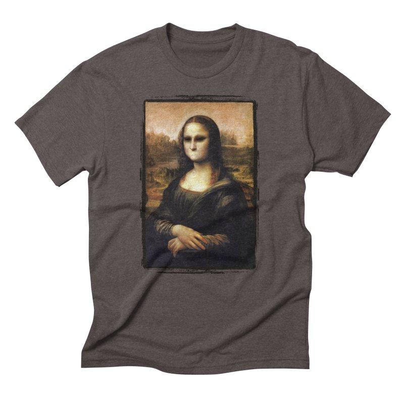 Silent Mona Lisa Men's Triblend T-Shirt by Kamonkey's Artist Shop