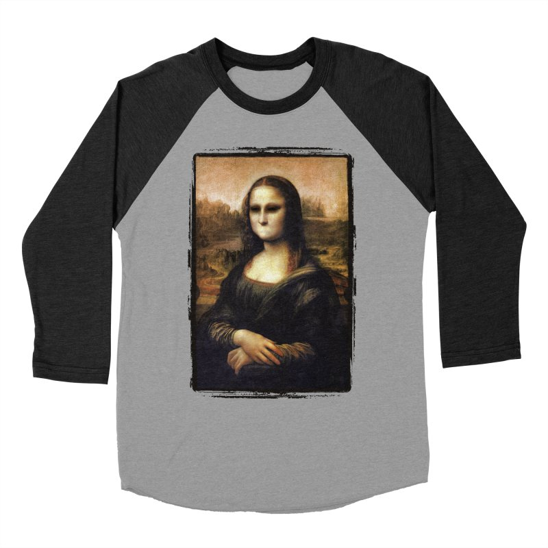 Silent Mona Lisa Men's Baseball Triblend Longsleeve T-Shirt by Kamonkey's Artist Shop