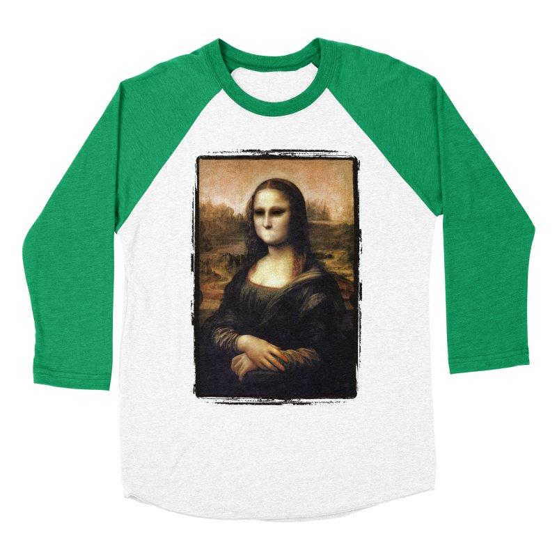 Silent Mona Lisa Men's Baseball Triblend Longsleeve T-Shirt by Kamonkey's Artist Shop