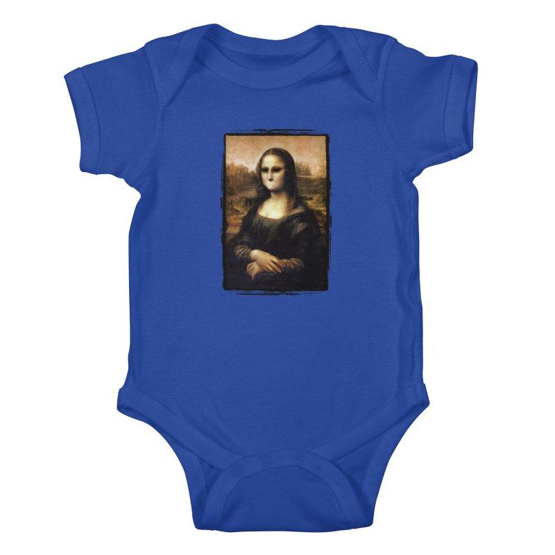 Silent Mona Lisa Kids Baby Bodysuit by Kamonkey's Artist Shop