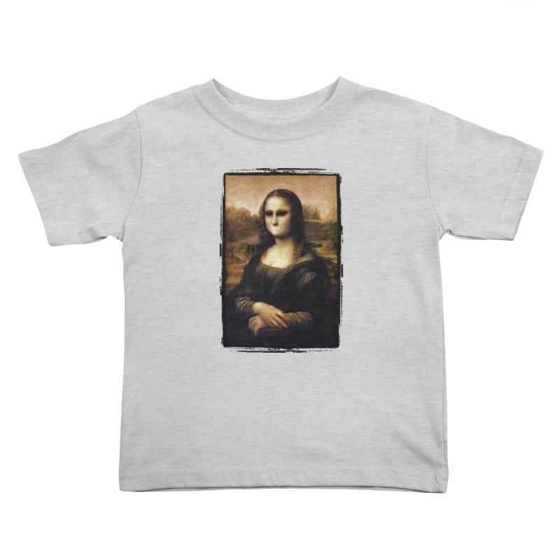 Silent Mona Lisa Kids Toddler T-Shirt by Kamonkey's Artist Shop