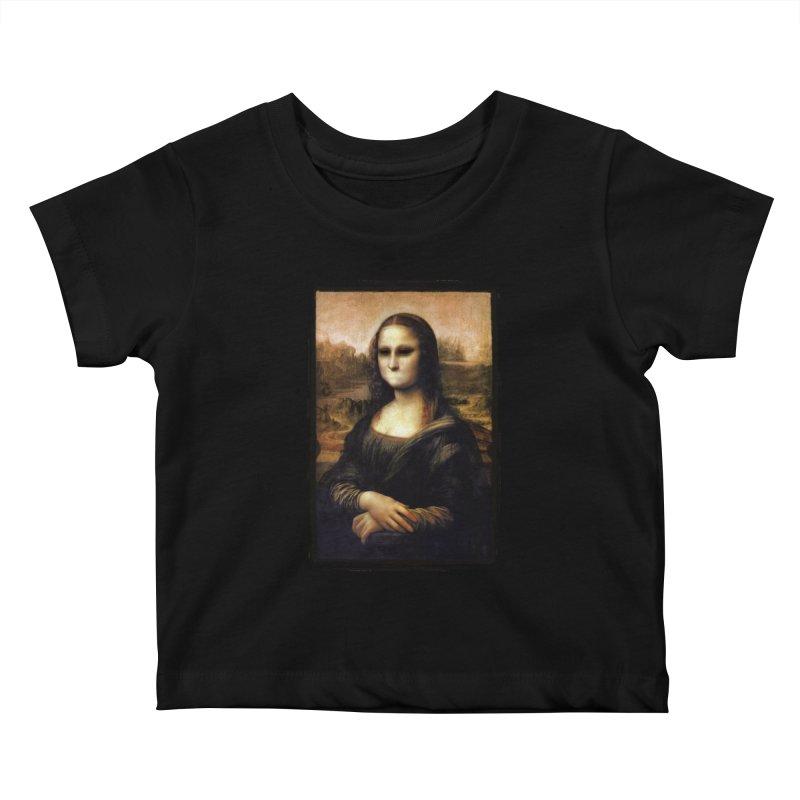 Silent Mona Lisa Kids Baby T-Shirt by Kamonkey's Artist Shop