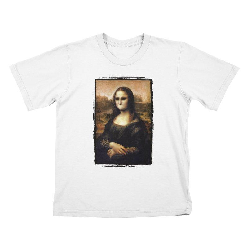Silent Mona Lisa Kids T-Shirt by Kamonkey's Artist Shop