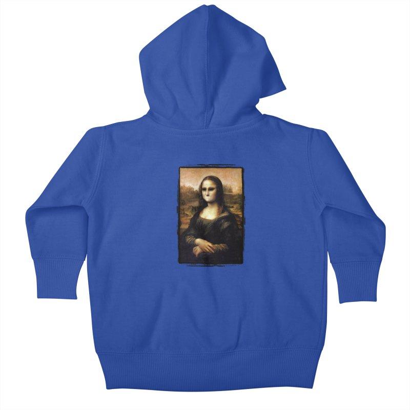 Silent Mona Lisa Kids Baby Zip-Up Hoody by Kamonkey's Artist Shop