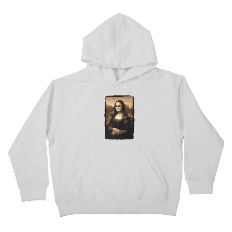 Silent Mona Lisa Kids Pullover Hoody by Kamonkey's Artist Shop