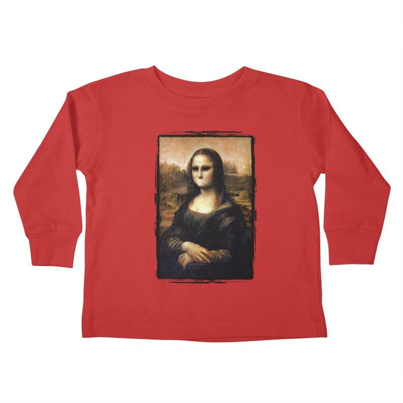 Silent Mona Lisa Kids Toddler Longsleeve T-Shirt by Kamonkey's Artist Shop