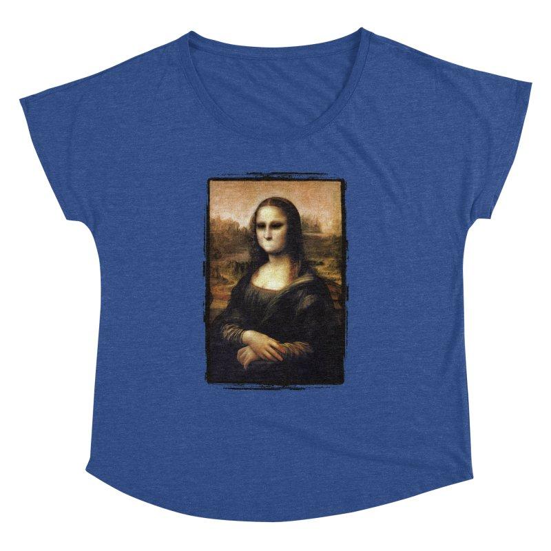 Silent Mona Lisa Women's Dolman Scoop Neck by Kamonkey's Artist Shop