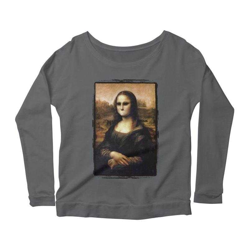 Silent Mona Lisa Women's Scoop Neck Longsleeve T-Shirt by Kamonkey's Artist Shop