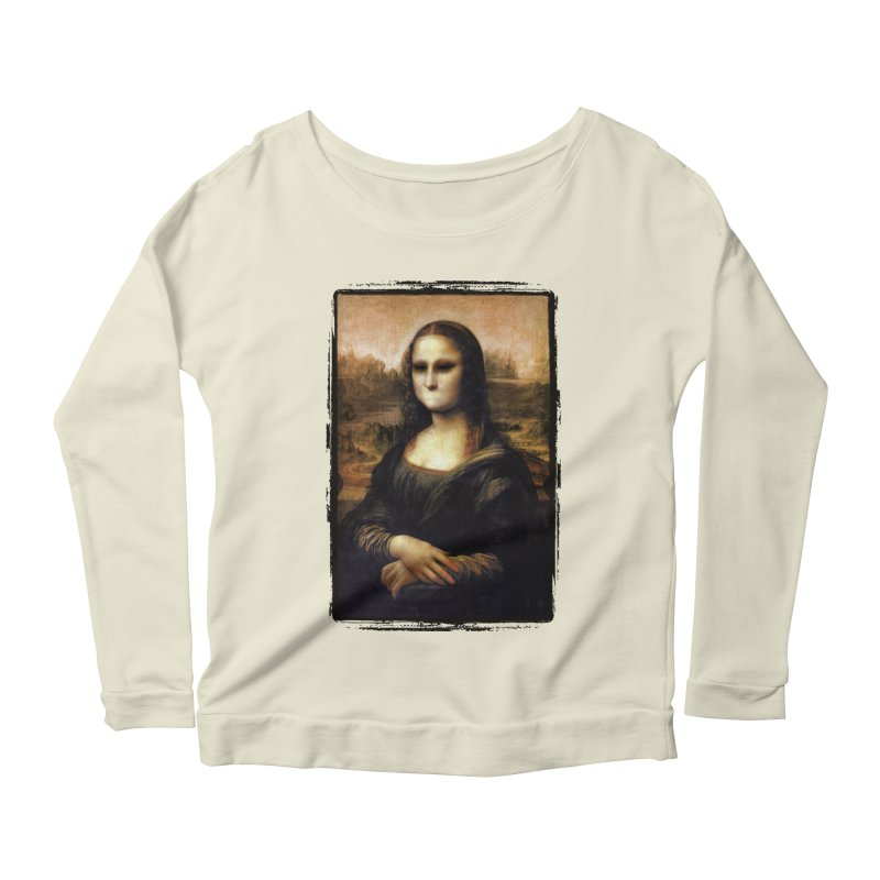 Silent Mona Lisa Women's Scoop Neck Longsleeve T-Shirt by Kamonkey's Artist Shop