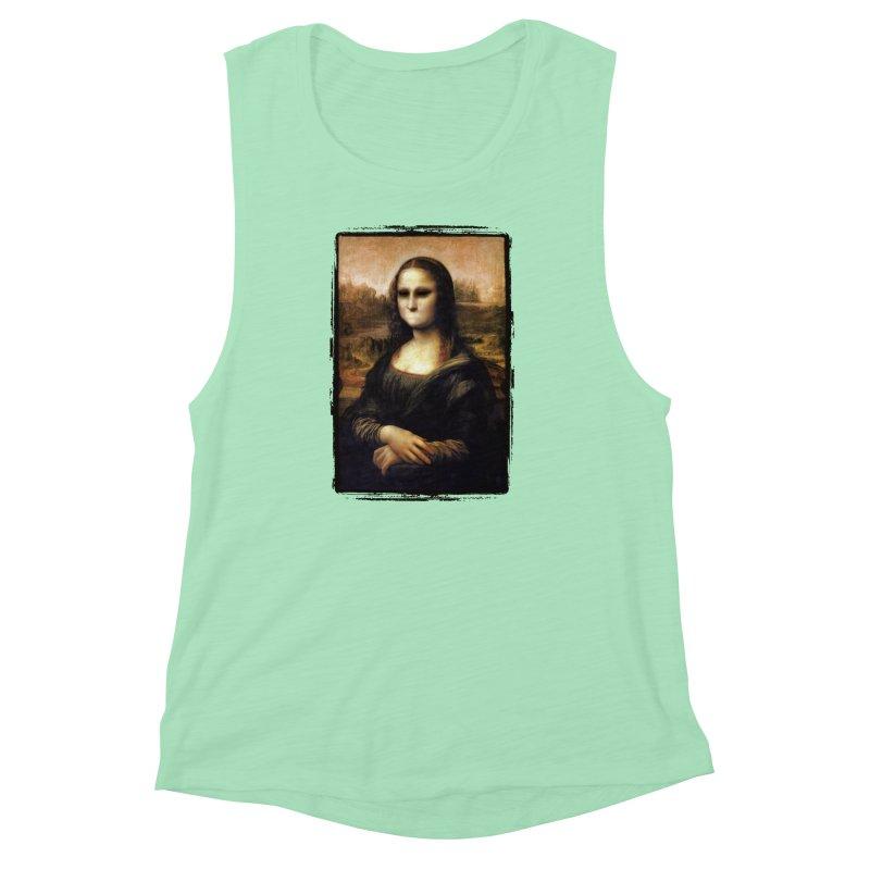 Silent Mona Lisa Women's Muscle Tank by Kamonkey's Artist Shop