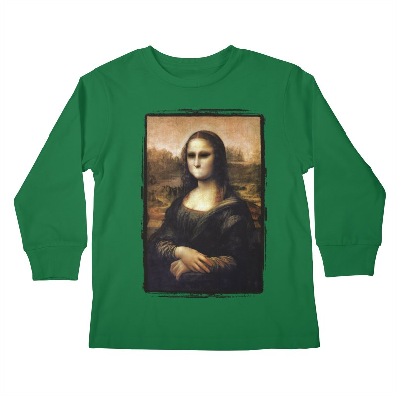 Silent Mona Lisa Kids Longsleeve T-Shirt by Kamonkey's Artist Shop