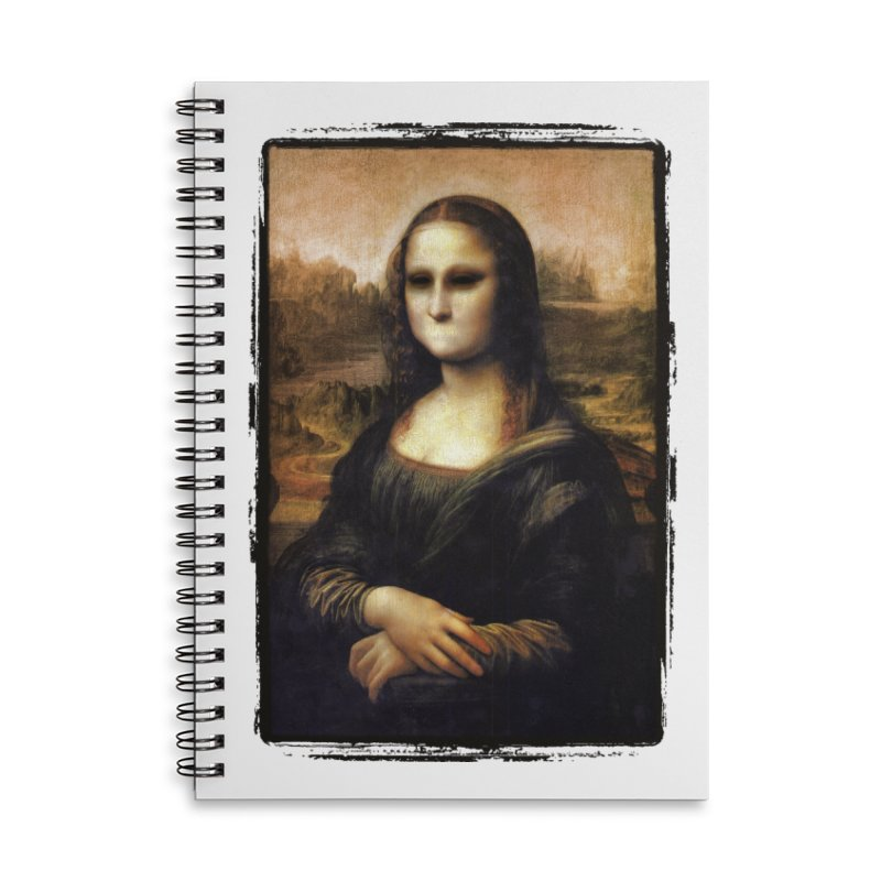 Silent Mona Lisa Accessories Lined Spiral Notebook by Kamonkey's Artist Shop