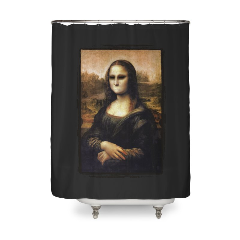 Silent Mona Lisa Home Shower Curtain by Kamonkey's Artist Shop
