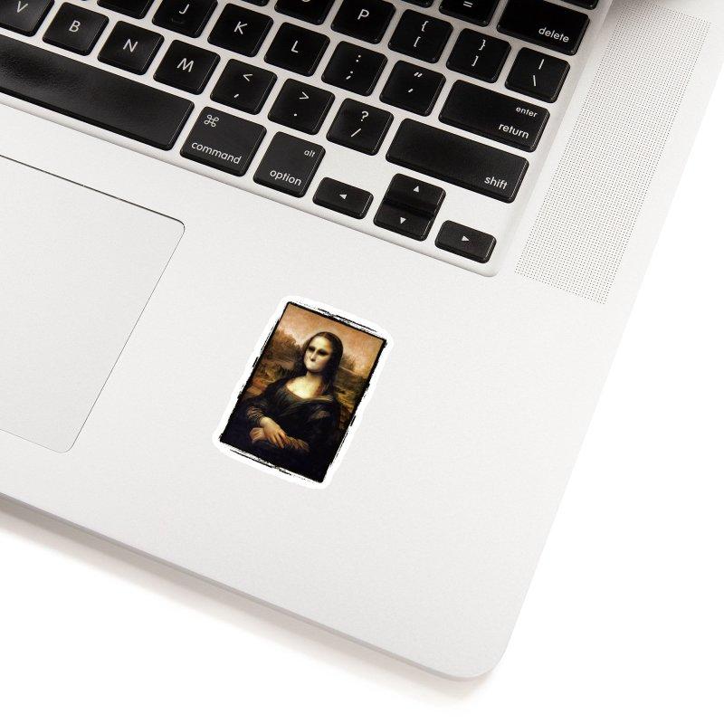 Silent Mona Lisa Accessories Sticker by Kamonkey's Artist Shop