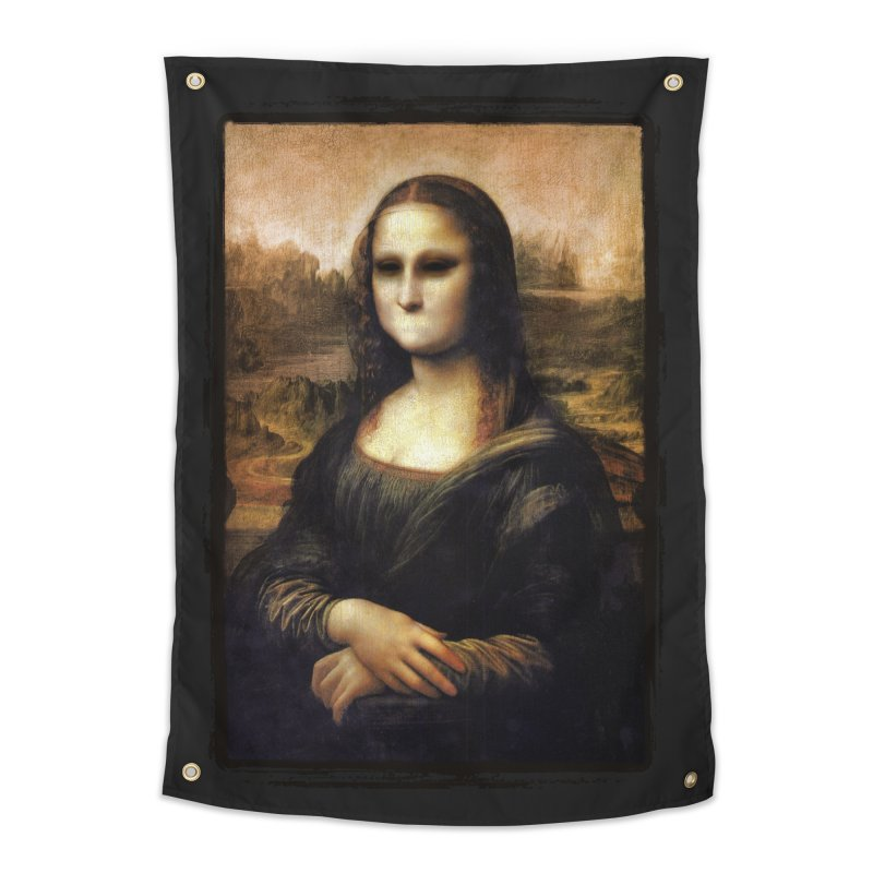 Silent Mona Lisa Home Tapestry by Kamonkey's Artist Shop