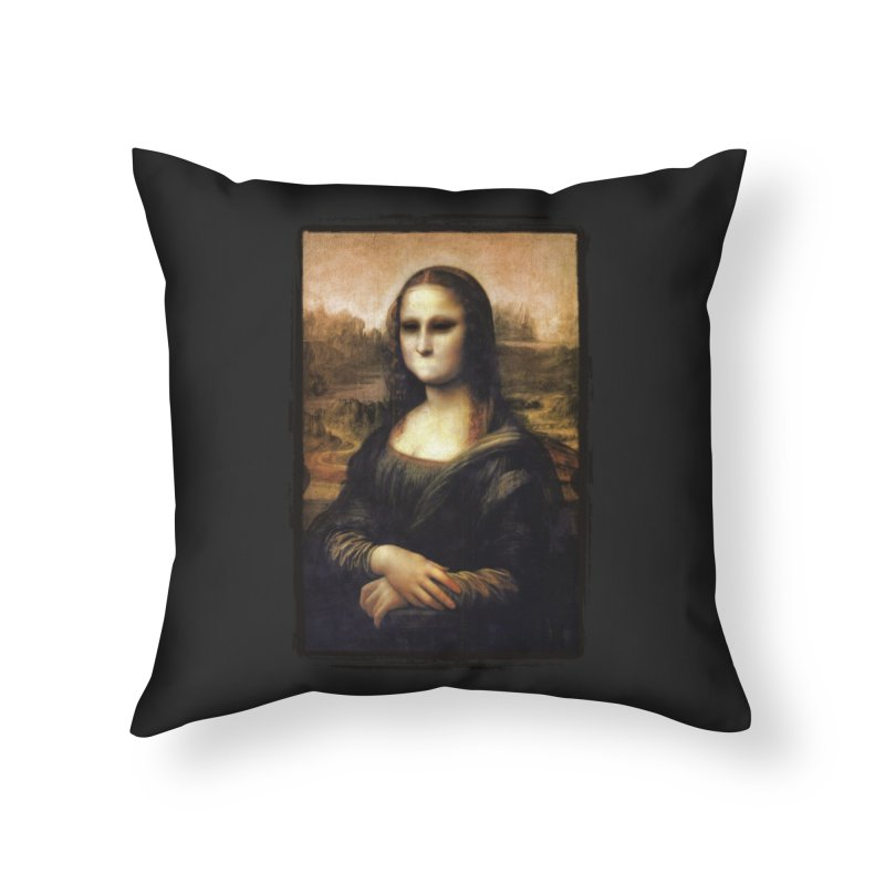 Silent Mona Lisa Home Throw Pillow by Kamonkey's Artist Shop