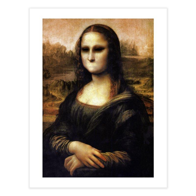 Silent Mona Lisa Home Fine Art Print by Kamonkey's Artist Shop