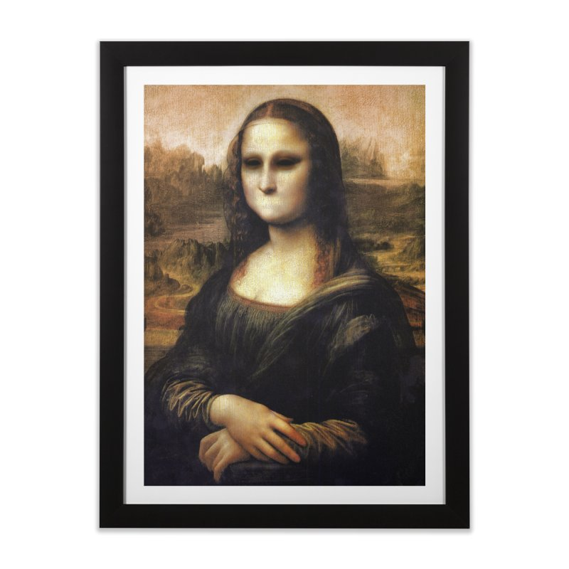 Silent Mona Lisa Home Framed Fine Art Print by Kamonkey's Artist Shop