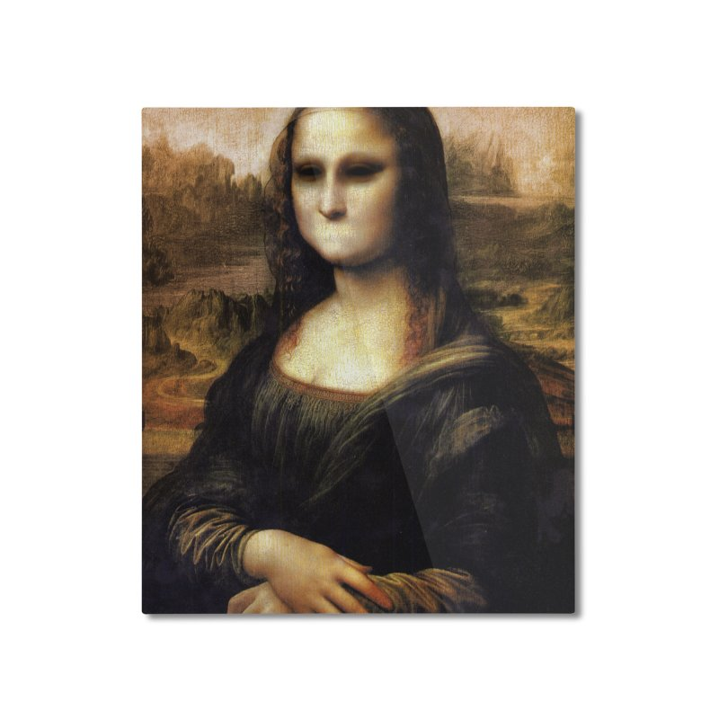 Silent Mona Lisa Home Mounted Aluminum Print by Kamonkey's Artist Shop