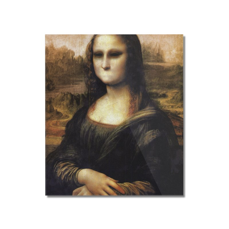 Silent Mona Lisa Home Mounted Acrylic Print by Kamonkey's Artist Shop