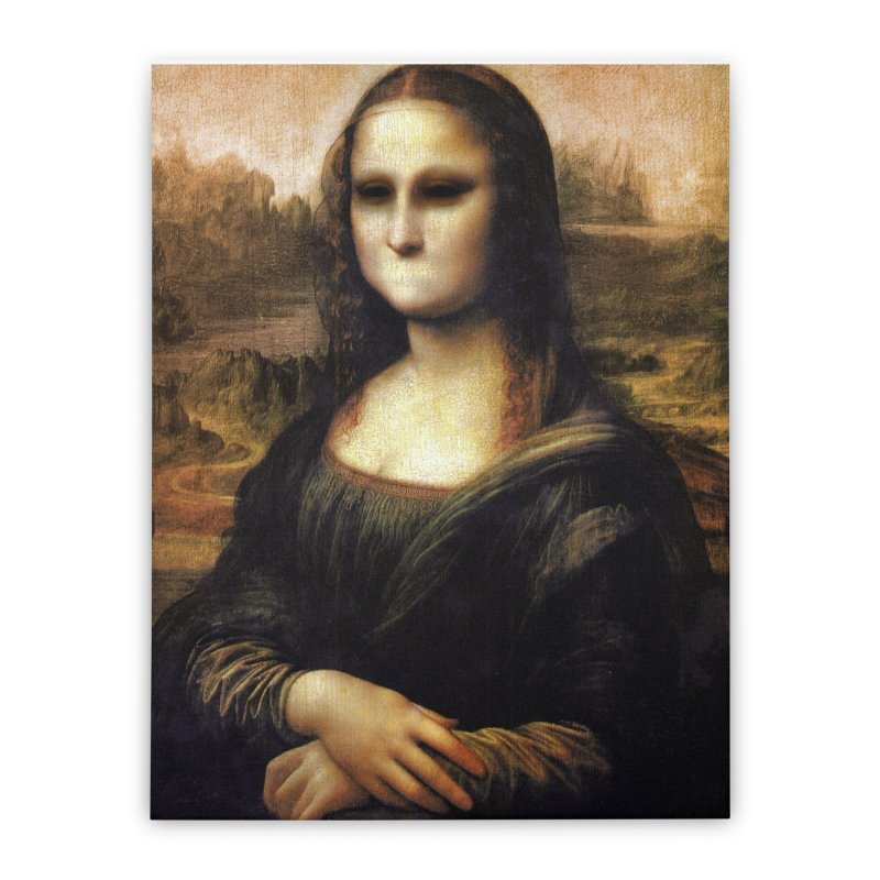 Silent Mona Lisa Home Stretched Canvas by Kamonkey's Artist Shop