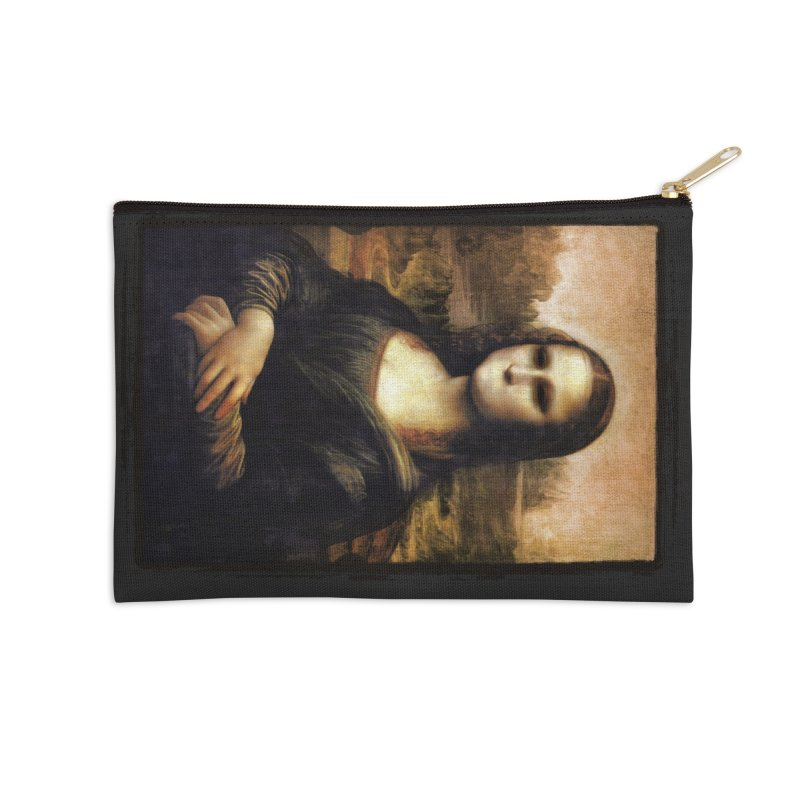 Silent Mona Lisa Accessories Zip Pouch by Kamonkey's Artist Shop