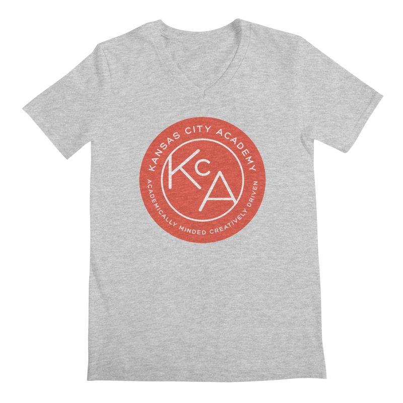 KCA logo Men's Regular V-Neck by Kansas City Academy Gear