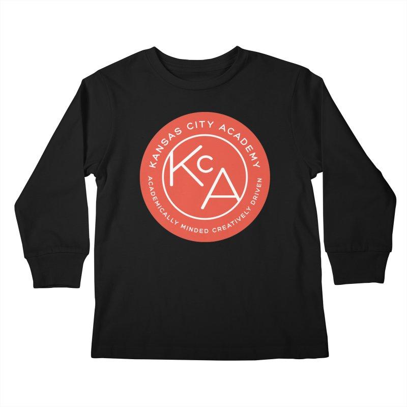 KCA logo Kids Longsleeve T-Shirt by Kansas City Academy Gear