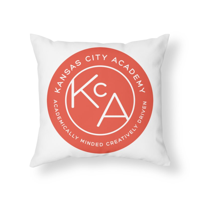KCA logo Home Throw Pillow by Kansas City Academy Gear