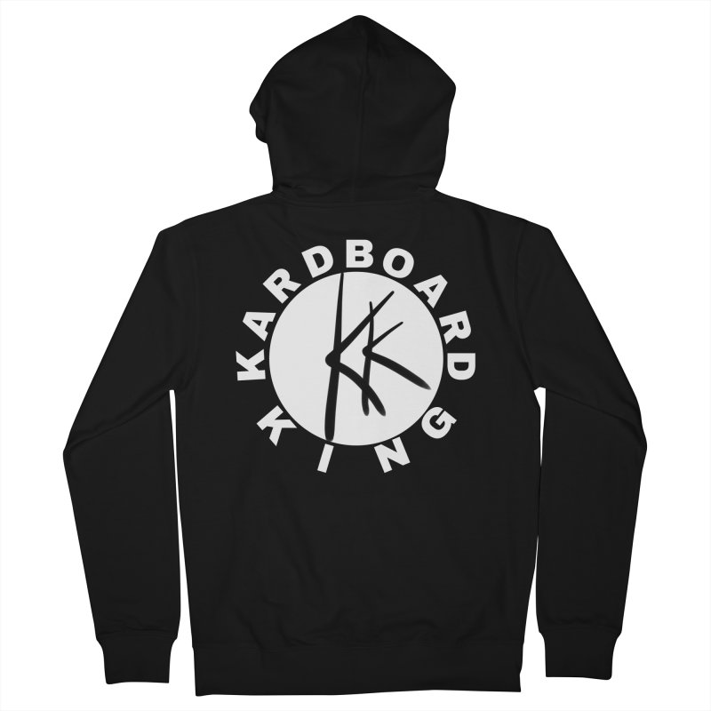 King Round Logo Women's French Terry Zip-Up Hoody by Kardboard King's Shop