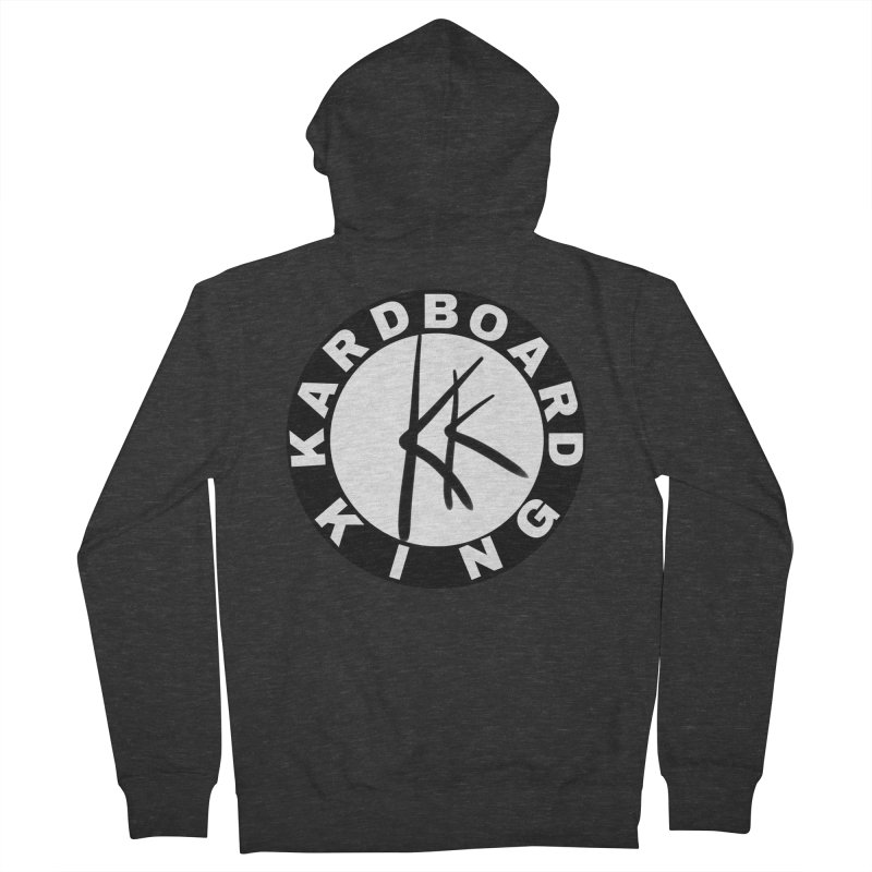 King Round Logo Men's French Terry Zip-Up Hoody by Kardboard King's Shop