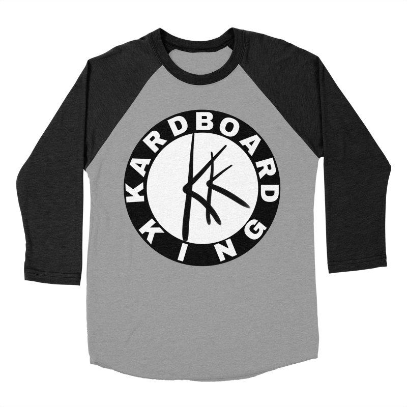 King Round Logo Men's Baseball Triblend Longsleeve T-Shirt by Kardboard King's Shop