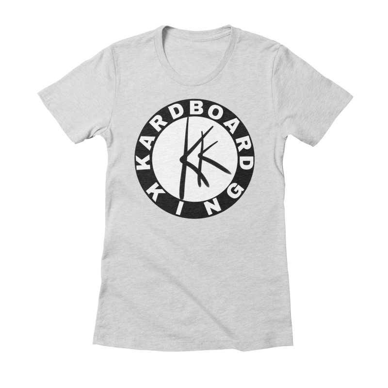 King Round Logo Women's Fitted T-Shirt by Kardboard King's Shop