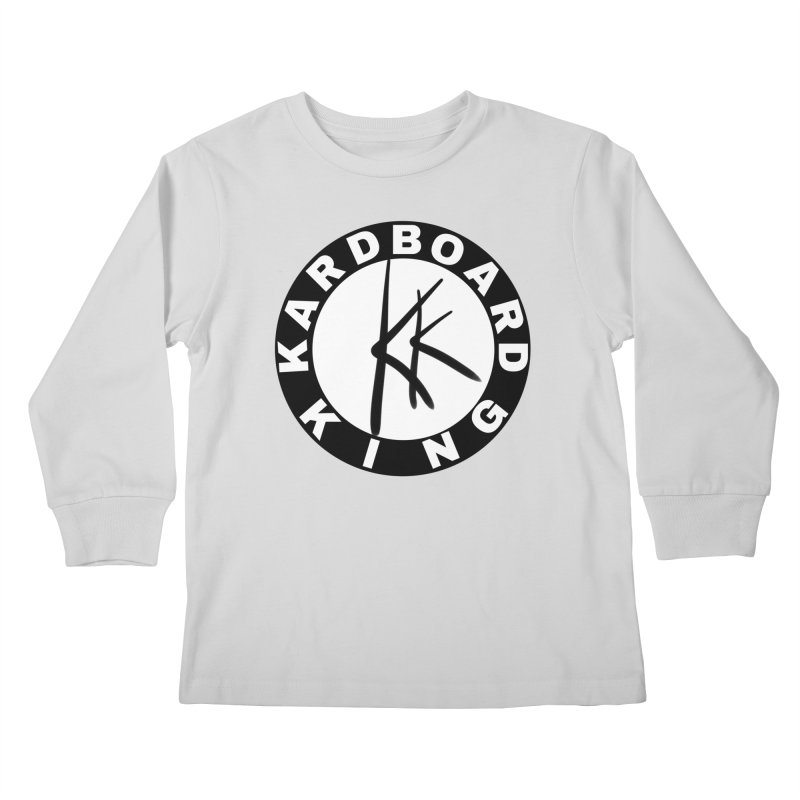 King Round Logo Kids Longsleeve T-Shirt by Kardboard King's Shop