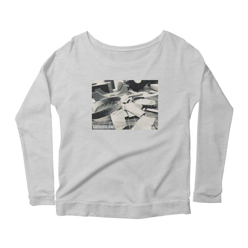 King Desk 1 Women's Scoop Neck Longsleeve T-Shirt by Kardboard King's Shop