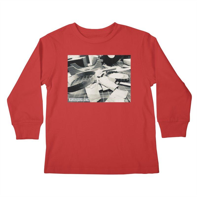 King Desk 1 Kids Longsleeve T-Shirt by Kardboard King's Shop