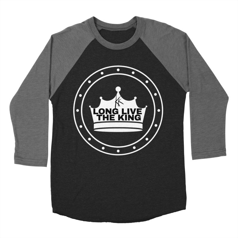 Long live the King in Men's Baseball Triblend Longsleeve T-Shirt Grey Triblend Sleeves by Kardboard King's Shop