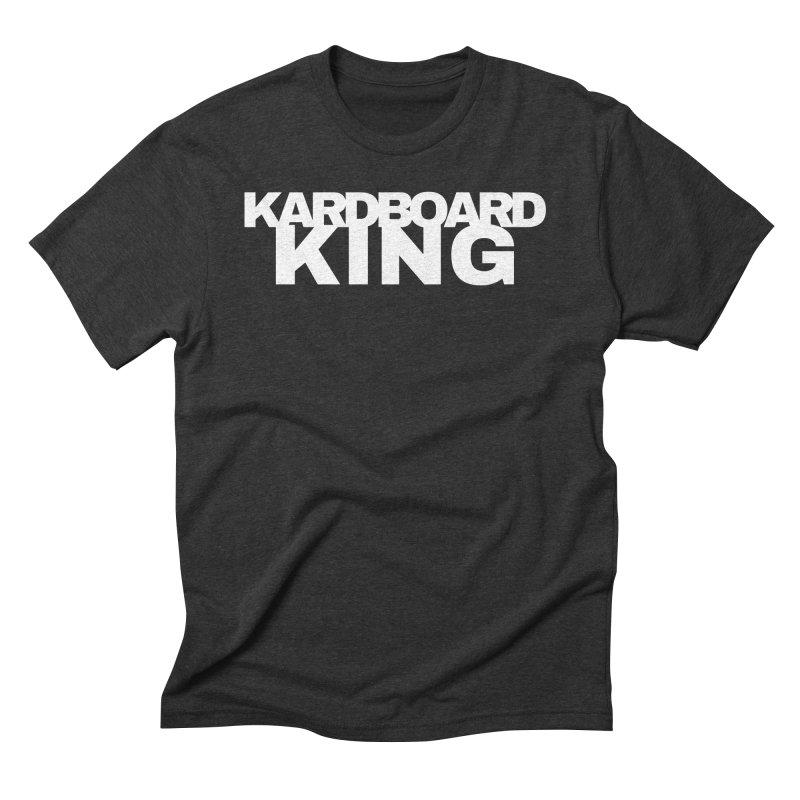 KARDBOARD KING in Men's Triblend T-Shirt Heather Onyx by Kardboard King's Shop