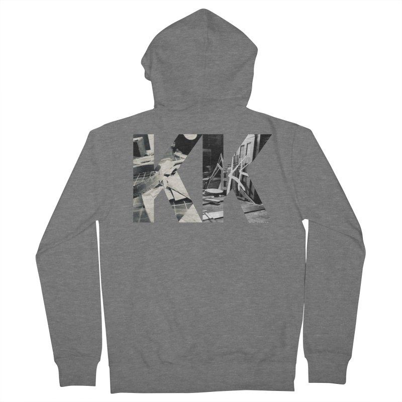 KK PHOTO LOGO Men's French Terry Zip-Up Hoody by Kardboard King's Shop