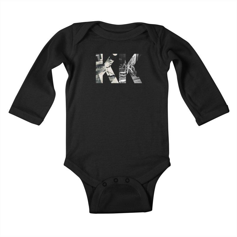 KK PHOTO LOGO Kids Baby Longsleeve Bodysuit by Kardboard King's Shop
