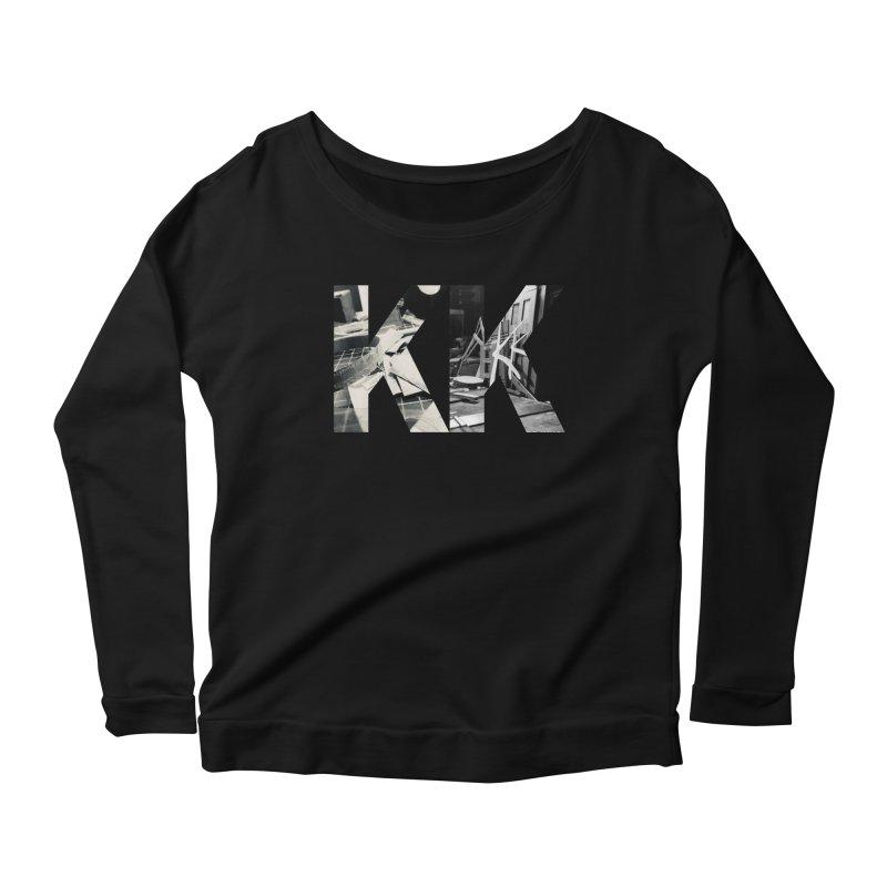 KK PHOTO LOGO Women's Scoop Neck Longsleeve T-Shirt by Kardboard King's Shop