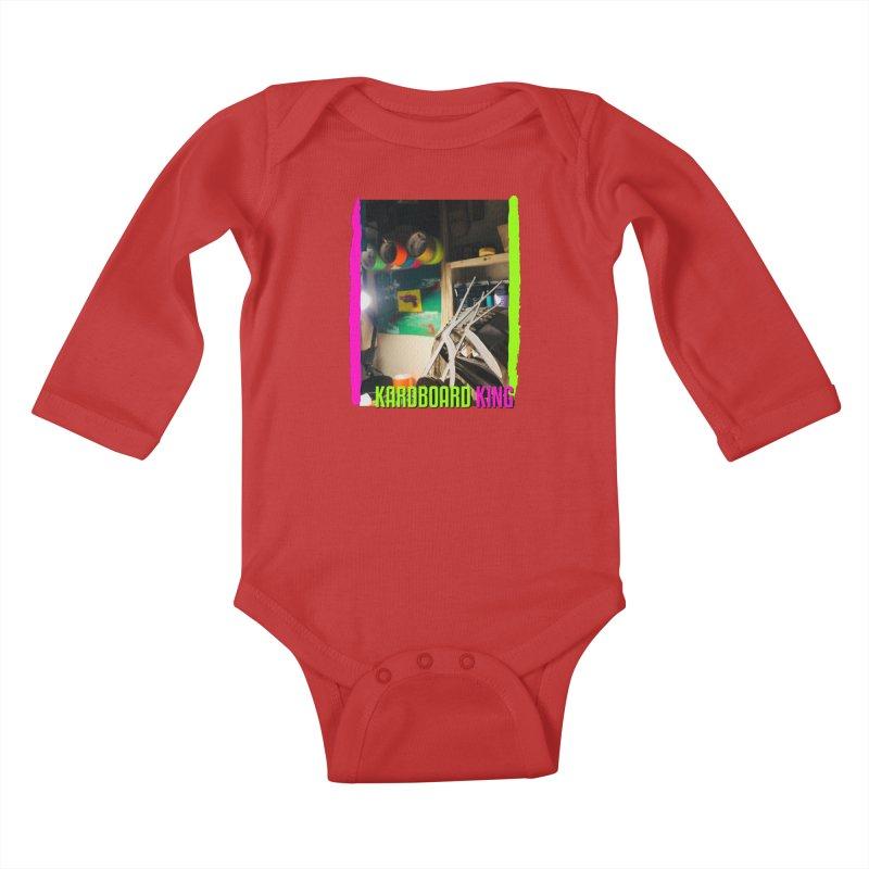KINGS COLOR DESK Kids Baby Longsleeve Bodysuit by Kardboard King's Shop