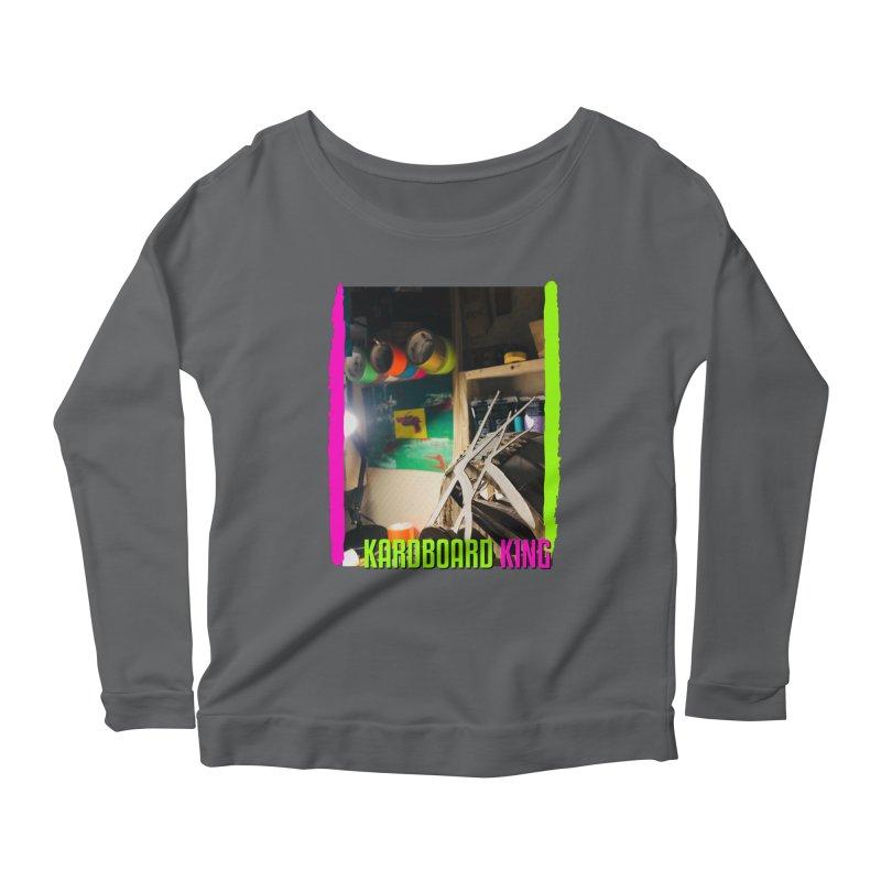 KINGS COLOR DESK Women's Scoop Neck Longsleeve T-Shirt by Kardboard King's Shop