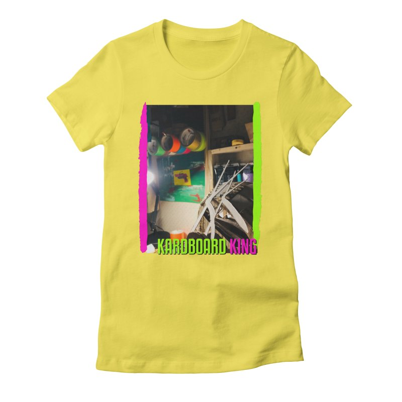 KINGS COLOR DESK Women's Fitted T-Shirt by Kardboard King's Shop