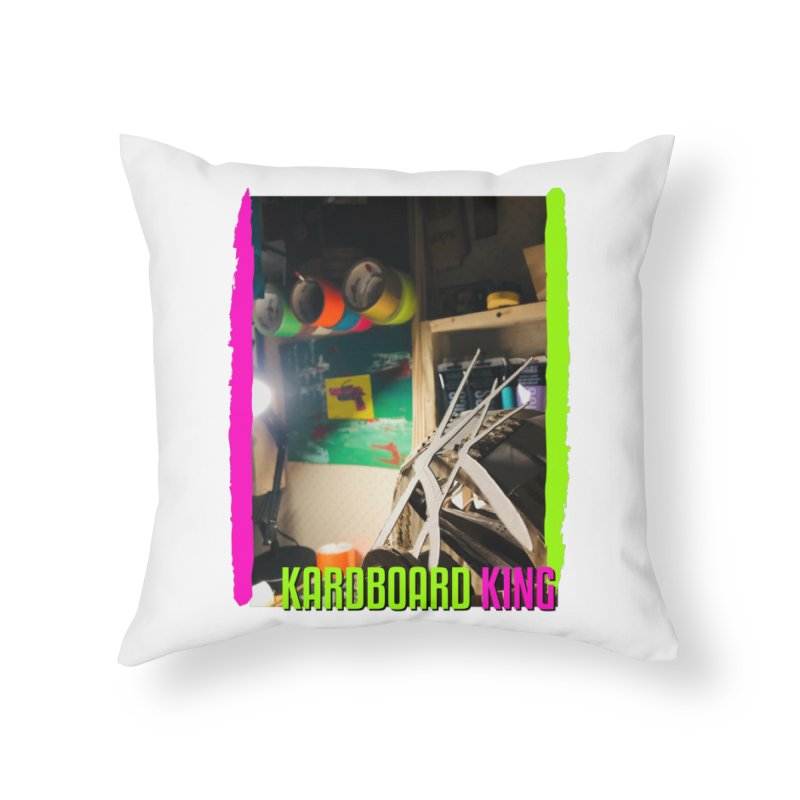 KINGS COLOR DESK Home Throw Pillow by Kardboard King's Shop