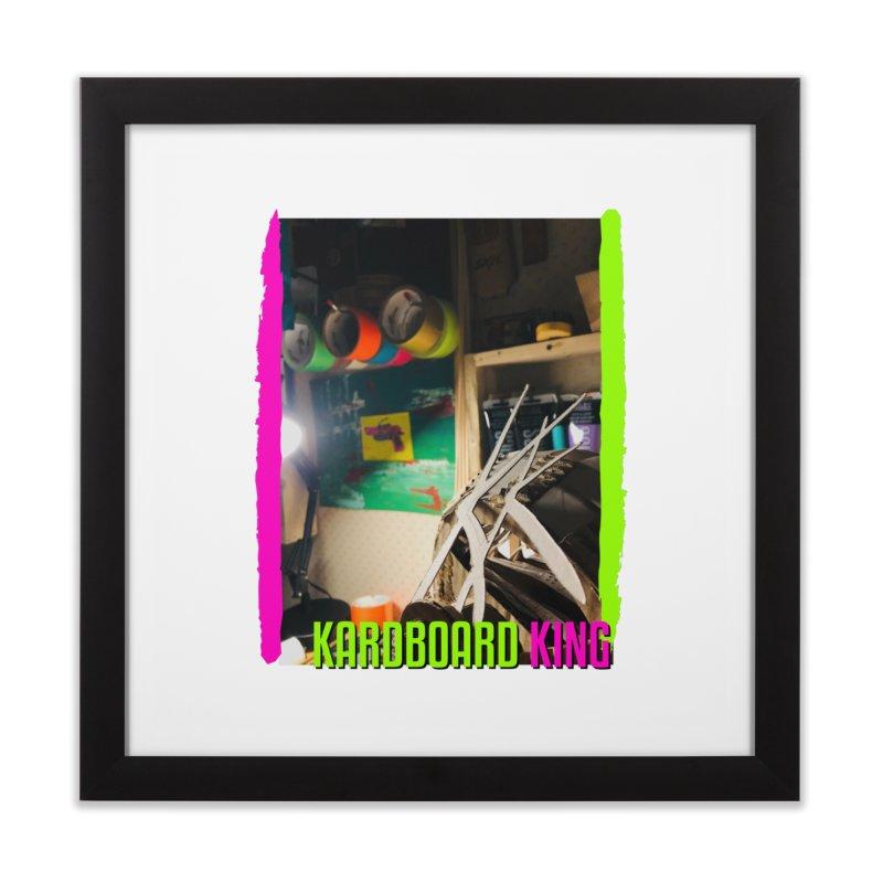 KINGS COLOR DESK Home Framed Fine Art Print by Kardboard King's Shop