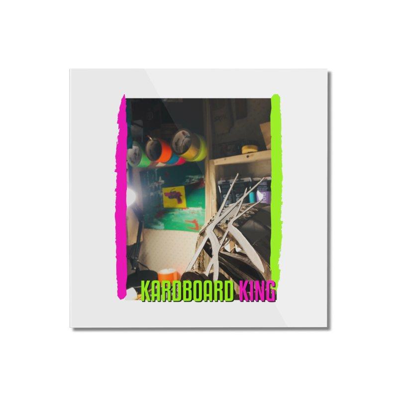 KINGS COLOR DESK Home Mounted Acrylic Print by Kardboard King's Shop