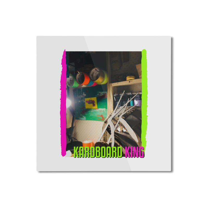 KINGS COLOR DESK Home Mounted Aluminum Print by Kardboard King's Shop