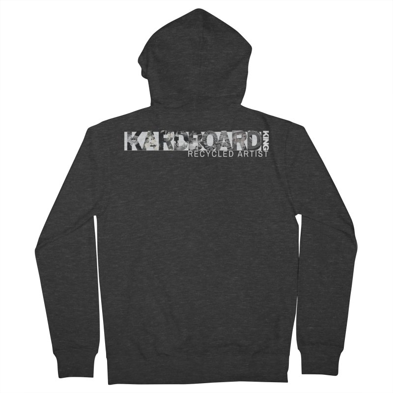 king photo logo 2 Men's French Terry Zip-Up Hoody by Kardboard King's Shop